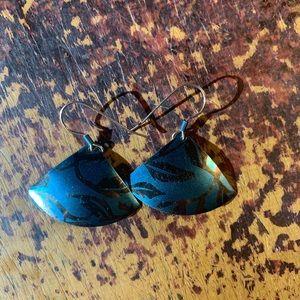 Fan style earrings
